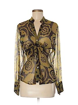 Eternal Sunshine Creations Long Sleeve Silk Top Size 8