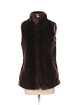 Neiman Marcus Faux Fur Vest Size XS