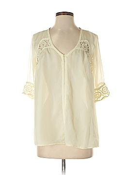 Ark & Co. 3/4 Sleeve Silk Top Size S