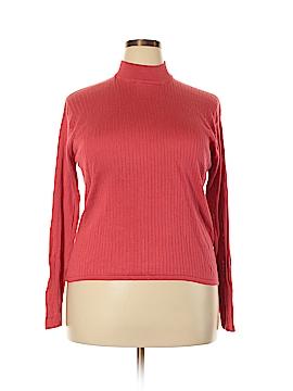 Stephanie Andrews Long Sleeve Silk Top Size 1X (Plus)