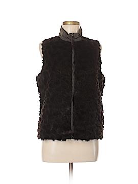 Chico's Design Faux Fur Vest Size Med (1)