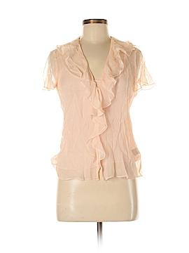 Ralph Lauren Short Sleeve Silk Top Size 6