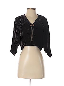 Line & Dot Silk Cardigan Size S