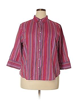 IZOD 3/4 Sleeve Blouse Size 1X (Plus)