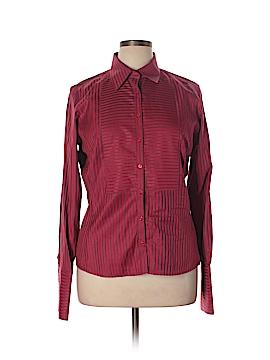 Thomas Pink Long Sleeve Button-Down Shirt Size 14