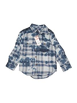Cat & Jack Long Sleeve Button-Down Shirt Size 4 - 5