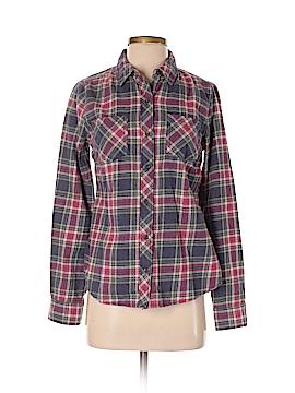 Girl Krazy Long Sleeve Button-Down Shirt Size S