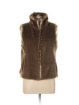 Ann Taylor LOFT Faux Fur Vest Size 10