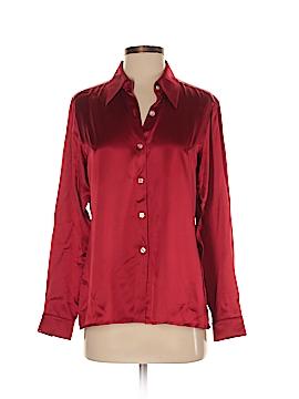 A LINE ANNE KLIEN Long Sleeve Silk Top Size 2