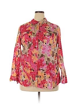 Covington Long Sleeve Button-Down Shirt Size 16 - 18
