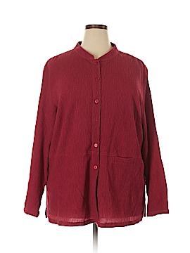 Dialogue Long Sleeve Button-Down Shirt Size 2X (Plus)