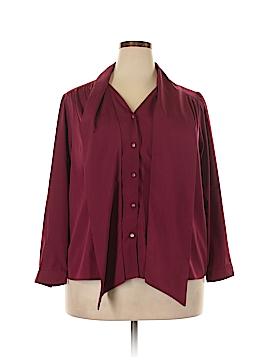 Jessica London Long Sleeve Blouse Size 18 (Plus)