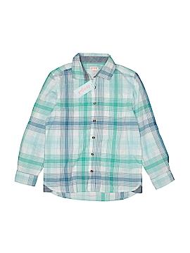 Cat & Jack Long Sleeve Button-Down Shirt Size 8 - 10 Husky (Husky)