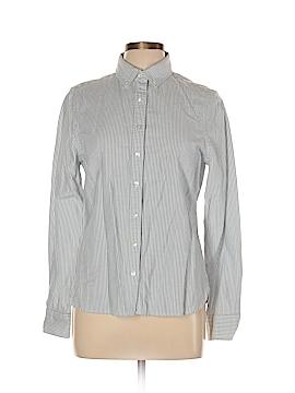 Lands' End Canvas Long Sleeve Button-Down Shirt Size 10