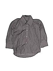 Villa D'Marco Boys Long Sleeve Button-Down Shirt Size 4