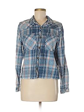 Kensie Long Sleeve Button-Down Shirt Size M