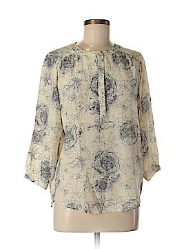 Amour Vert 3/4 Sleeve Silk Top Size XS