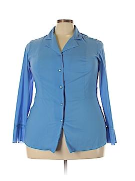 Sag Harbor Long Sleeve Button-Down Shirt Size 16 (Plus)