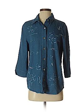 Koret 3/4 Sleeve Button-Down Shirt Size S