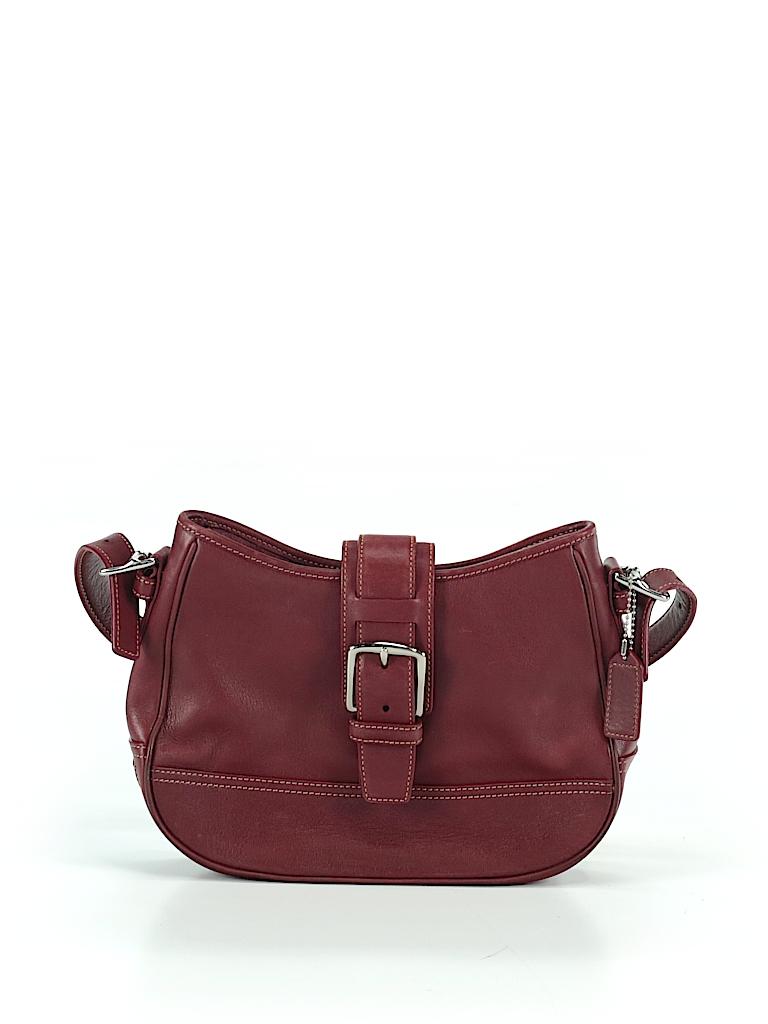 562ddaee095c Coach Solid Burgundy Shoulder Bag One Size - 94% off