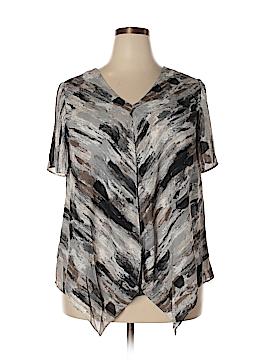 H By Halston Short Sleeve Blouse Size 18 (Plus)