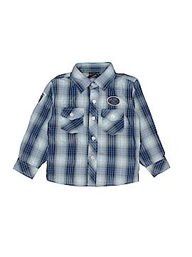 Quad Seven Long Sleeve Button-Down Shirt Size 3T