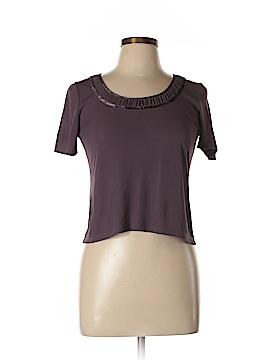 Ellen Tracy Short Sleeve Silk Top Size M (Petite)