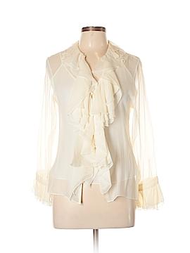 Lauren by Ralph Lauren Long Sleeve Silk Top Size 10