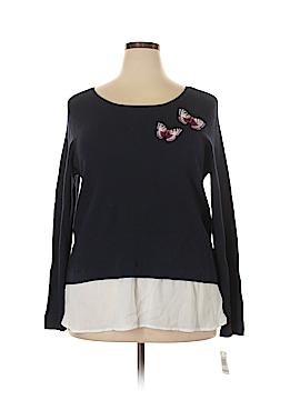Inc Denim Pullover Sweater Size 1X (Plus)