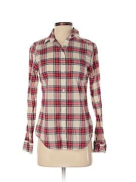 Lands' End Canvas Long Sleeve Button-Down Shirt Size 0