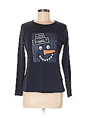 St. John's Bay Women Long Sleeve T-Shirt Size M