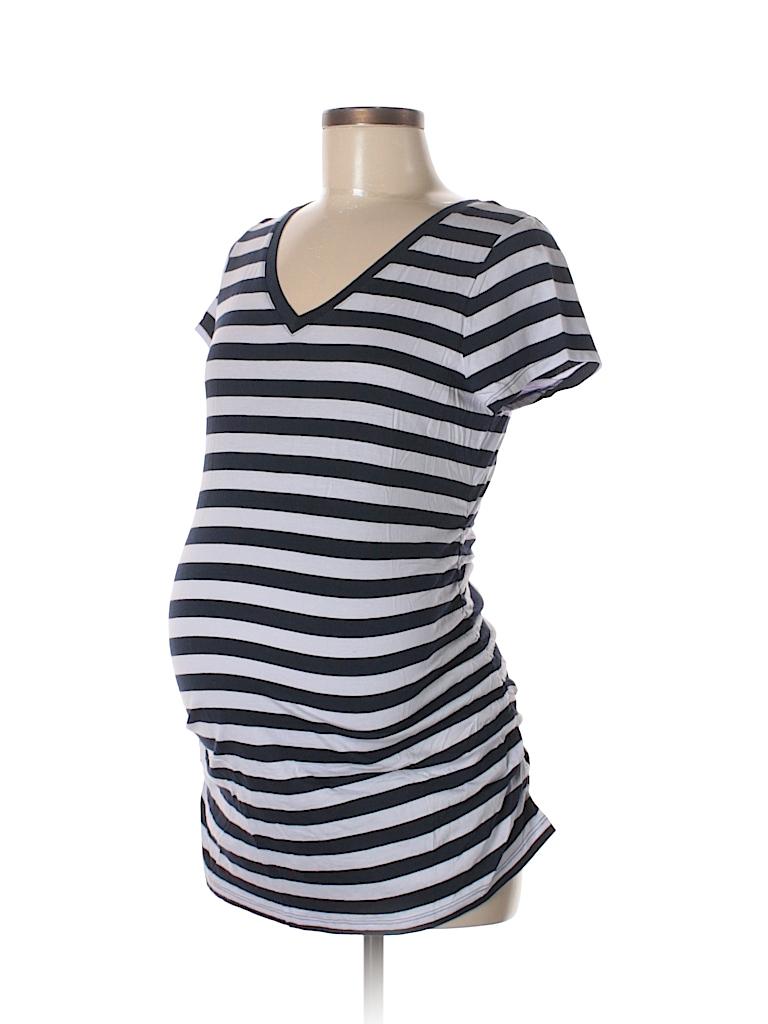 effd03e8258e5 Liz Lange Maternity for Target Stripes Dark Blue Short Sleeve T ...