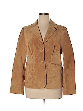 Liz & Co Leather Jacket Size L