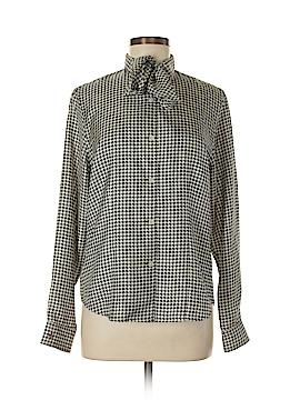 Lauren by Ralph Lauren Long Sleeve Silk Top Size M