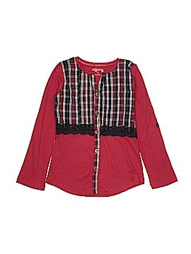 Jak & Peppar Long Sleeve Button-Down Shirt Size 10