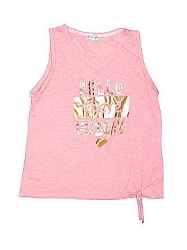 Ten Sixty Sherman Girls Sleeveless T-Shirt Size X-Large (Kids)