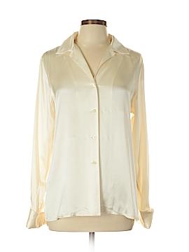 Lauren by Ralph Lauren Long Sleeve Silk Top Size 12