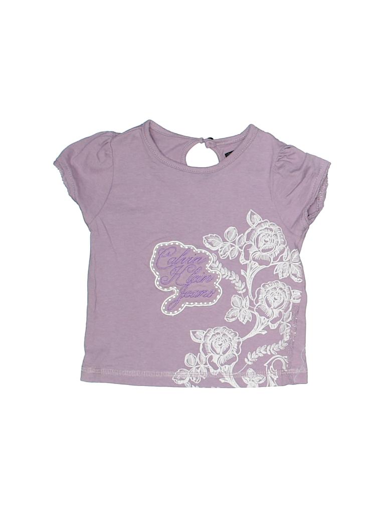 Calvin Klein Girls Short Sleeve T-Shirt Size 12 mo