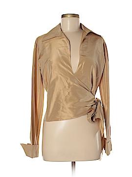 Chetta B Long Sleeve Silk Top Size 6