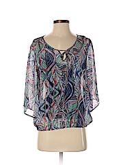 Ella Moss Women 3/4 Sleeve Silk Top Size XS