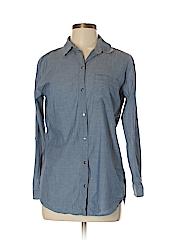 Chico's Women Long Sleeve Button-Down Shirt Size Sm (0)