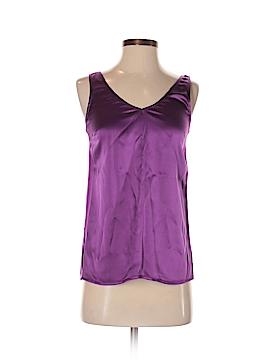 Aqua Sleeveless Silk Top Size XS