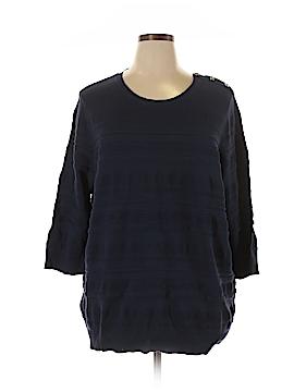 Inc Denim Pullover Sweater Size 3X (Plus)