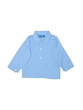 Happy Fella Long Sleeve Button-Down Shirt Size 18 mo