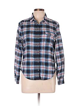 Papaya Long Sleeve Button-Down Shirt Size L