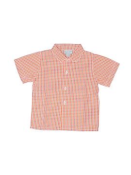 Papo d'Anjo Short Sleeve Button-Down Shirt Size 12 mo