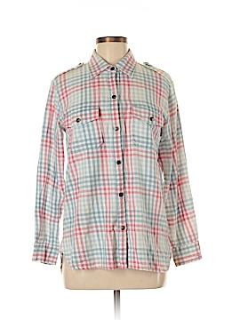 Current/Elliott Long Sleeve Button-Down Shirt Size Med (2)