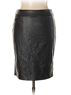 Calvin Klein Faux Leather Skirt Size 14