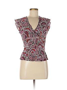 S.L.B. Short Sleeve Silk Top Size M