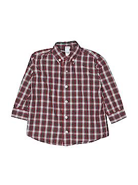 Little Me Long Sleeve Button-Down Shirt Size 3